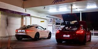 porsche cayman 2015 white jaguar f type s coupe v porsche cayman gts comparison review