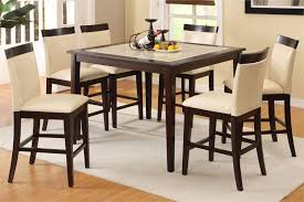 Black Wood Dining Room Set Dining Tables Extraordinary Tall Square Dining Table 7 Piece