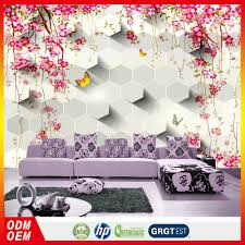 Flower Wallpaper Home Decor Red Small Wall Fashion Wallpaper Vinyl Wall Paper Free 3d