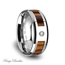 promise ring for men tungsten wood wedding band tungsten wood ring anniversary rings