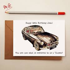 classic car birthday card by house notonthehighstreet