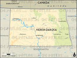 Us And Canada Physical Map by Geoatlas United States And Canada North Dakota Map City