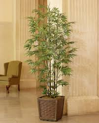 realistic 6 silk bamboo trees at petals