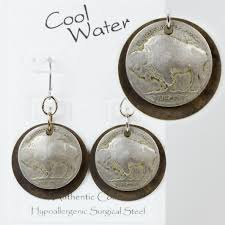 nickel earrings the plains buffalo buffalo nickel disk earrings ew354 cool