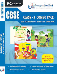 average2excellent class 3 evs maths english cbse cd amazon
