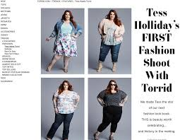 Plus Size Fashion Stores Plus Size Model Tess Holliday No Photoshop In Torrid Ads