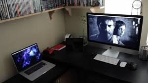 Desk For Dual Monitor Setup Tips Wooden Gaming Desk Computer Desk Multiple Monitors Best