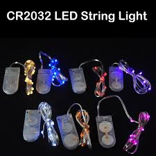 20 led micro lights battery operated 2m 20leds cr2032 coin battery operated micro led fairy string lights