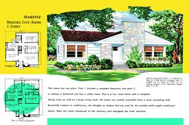 Rambler Floor Plans With Basement by Ranch Homes Plans For America In The 1950s