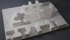 bureau plexi maquette wilmotte et associés immeuble de bureau maquette