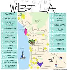 La City Map West La City Guide W O R K Pinterest Los Angeles Angeles
