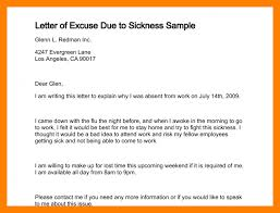 Sle Letter Of Absence Due To 10 Excuse Letter For Fever Students Resume