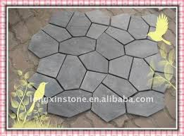outdoor random pattern black slate flooring tiles walkway
