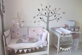 décoration chambre bébé fille et gris lit poudre et originale gris tour bois coucher deco ado design
