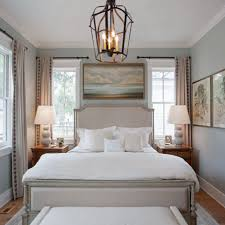 benjamin moore moonshine with bedroom area and chandelier and