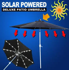 solar powered umbrella lights glow in the dark survival tools