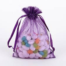 organza bag 10 plum organza favor bags fuzzy fabric