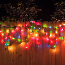 100 icicle lights multicolor green wire yard envy