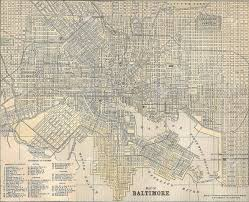 Map Of Baltimore Md Vintage 1891 Map Of The City Of Baltimore Maryland Out Of