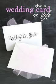 what to give for wedding gift lettering a card for a wedding gift in my own style