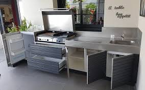 cuisine exterieure fabricant cuisine d extérieur été meuble plancha inox