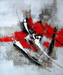 Tableau Abstrait Rouge Et Gris by Decoration Tableaux Sur Toile Pas Cher Hs D Sur Pas Tableaux