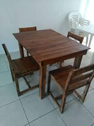 Pallet Dining Room Table Wooden Pallet Dining Furniture Set 99 Pallets