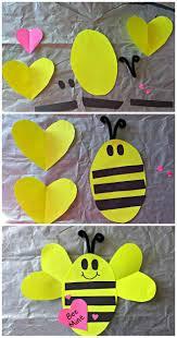simple origami bee paper craft diy painting