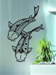 amazon com koi fish decal sticker wall vinyl art asian japanese amazon com koi fish decal sticker wall vinyl art asian japanese animal home kitchen