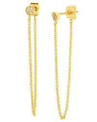 stud earrings with chain gorjana pristine mini chain loop stud earrings online jewelry