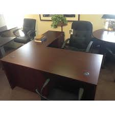 Small Mahogany Desk New Mahogany Small L Shape Desk Sk Office Furniture