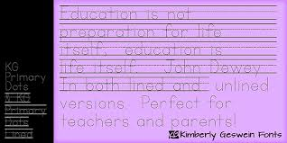 kg primary dots font dafont com