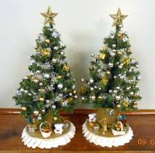 target white christmas tree lights fake white christmas tree artificial yellowing with red lights 3