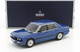 bmw diecast model cars 1987 bmw m535i blue metallic 1 18 diecast model car by norev