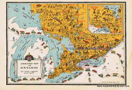 Map Of Ontario Animated Map Of Ontario Antique Maps And Charts U2013 Original