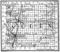 map of allen allen county kansas maps