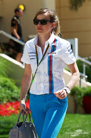 blue martini uniform susie wolff williams development driver susie wolff williams