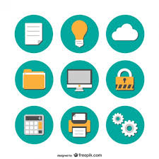 icone bureau gratuit icônes de bureau plates collection de télécharger des vecteurs