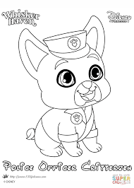 whisker haven police officer critterzen coloring page free