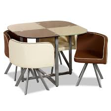 modular dining table battenberg 4 seater dining set in brown and beige u2013 next day