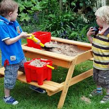 garden games sandpit picnic table 1 2m wide for up to 4 children