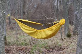 jellyfish report diy hammock with stretchable footbox and knotty mod