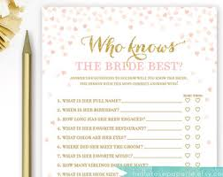 who knows the best who knows the best bridal shower printable