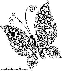 detailed butterfly coloring pages for adults coloring pages butterfly www glocopro com