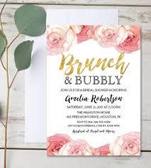 bridal brunch shower invitations editable bridal shower invitation brunch and bubbly watercolor