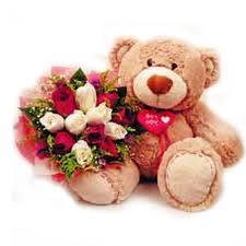 teddy delivery cheap teddy gift with bouquet delivery online in cupang