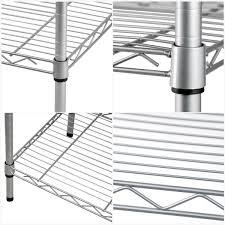 Wire Storage Unit 5 Tier Heavy Duty Steel Wire Rack Shelf Storage Shelving Unit