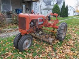 allis chalmers model b with a woods l59 mower corner of mulberry