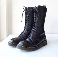 womens boots size 14 vintage 90s made in dr martens 1914 14 eye black lace up