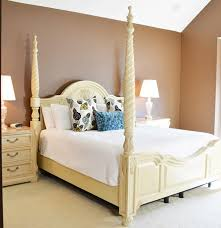 thomasville french vanilla cream four poster king bed ebth
